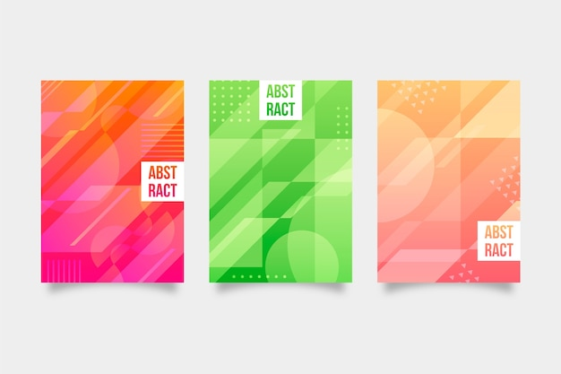 Abstract geometric cover collection