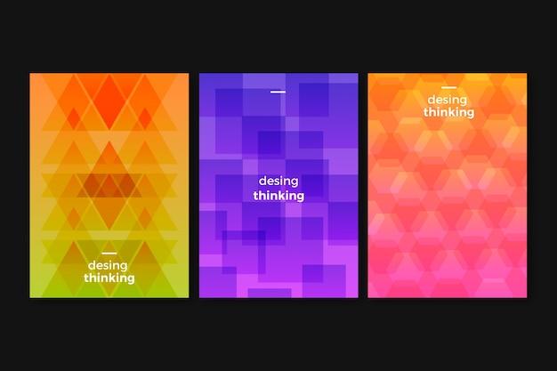 Коллекция абстрактных геометрических обложек