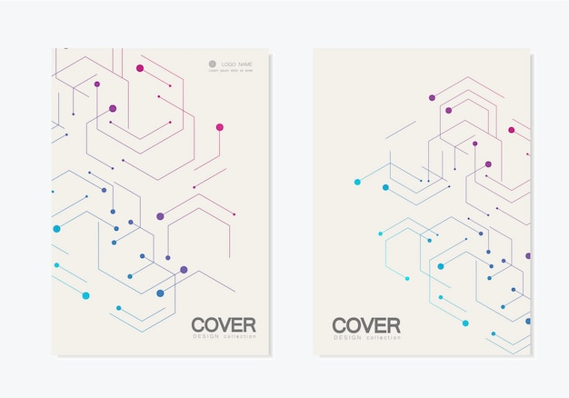 Abstract geometric cover set