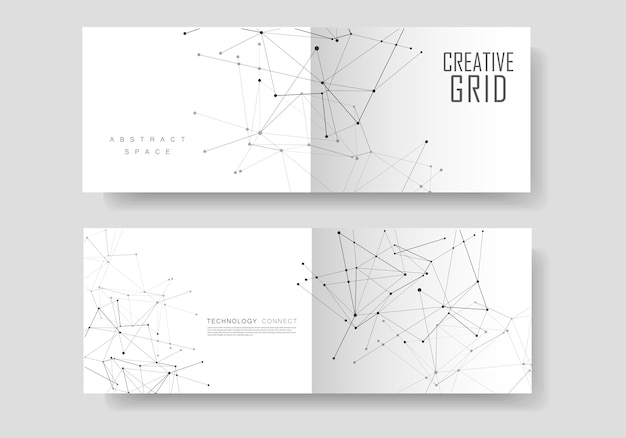 Abstract geometric cover vector templates