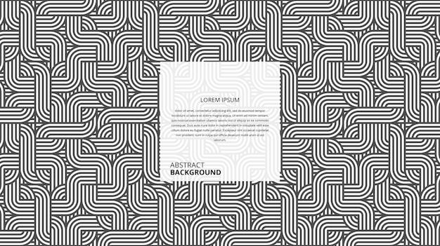 추상적 인 기하학적 매력적인 광장 wickers 라인 패턴