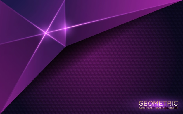Abstract geometric dark purple background
