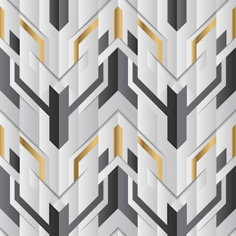 Abstract geometric decor stripes white and golden element
