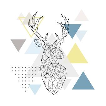 Abstract geometric deer.