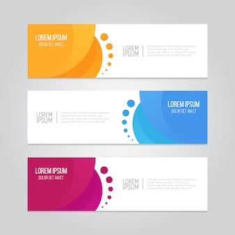 Abstract geometric design banner.