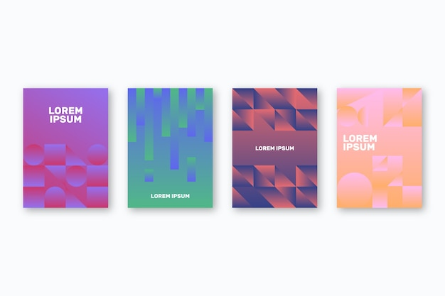 Abstract geometric design cover collection