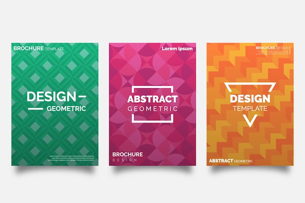 Abstract geometric design of cover collection