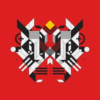 カラフルな背景に抽象的な幾何学的なデザイン要素。未来的なデザイン、幾何学的な形。