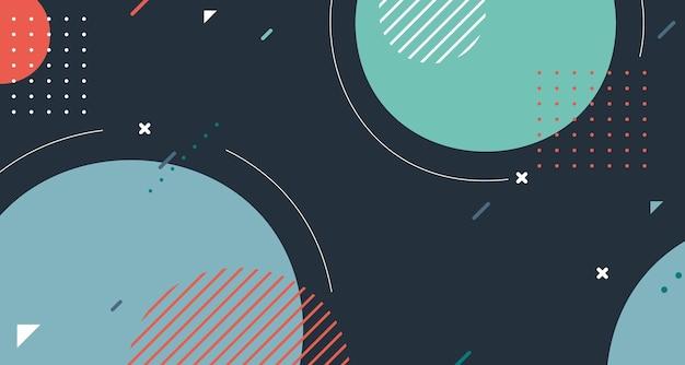 최소한의 템플릿 아트웍 패턴 요소 배경의 추상 기하학적 디자인