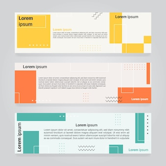 Abstract geometric design web banner template