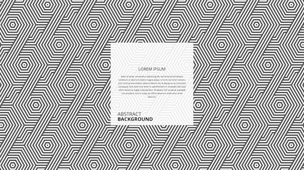 추상적 인 기하학적 대각선 육각 라인 패턴