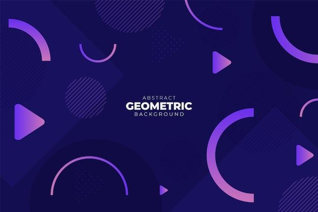 Абстрактные геометрические динамические формы градиента яркий фиолетовый фон баннер концепция