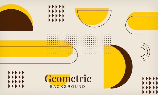 추상적인 기하학적 요소 멤피스 복고풍 배경 현대 최소한의 유행 디자인 서식 파일