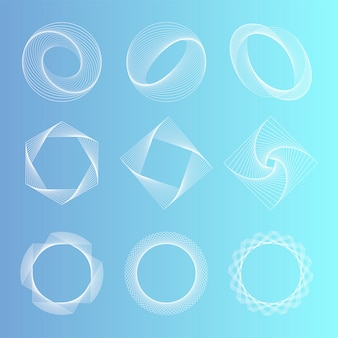 Abstract geometric elements set vector