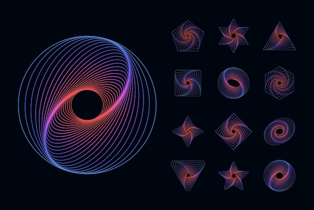 Abstract geometric elements universal dynamical forms flowing lines