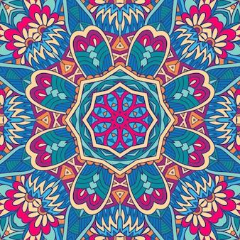 Абстрактный геометрический этнический бесшовный фон дизайн
