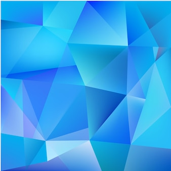 Abstract geometric feceted modern 3d blue background
