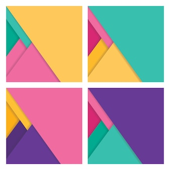 Abstract Geometric Flat Background with Shadow