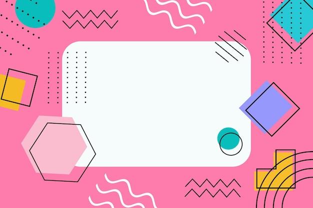 Абстрактный геометрический плоский минималистский фон