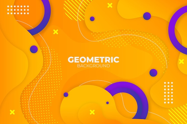 抽象的な幾何学的な流体黄色と青の背景