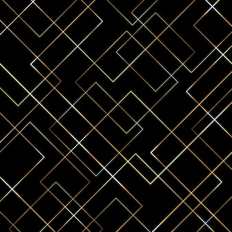 Abstract geometric gold lines pattern