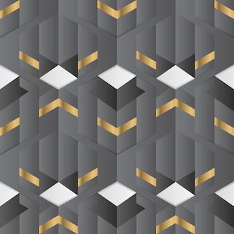 Abstract geometric golden pattern Premium Vector