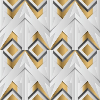 Abstract geometric golden pattern