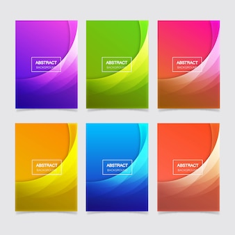 Abstract geometric gradient background template pack