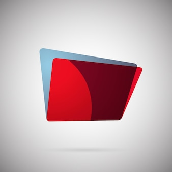 Abstract geometric gradient colorful icon vector illustration