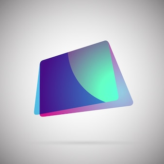 Abstract geometric gradient colorful icon vector