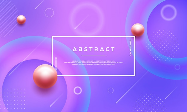 Abstract geometric gradient shape vector background.
