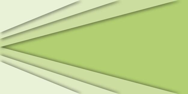 종이에 추상적 인 기하학적 녹색 배경 컷 스타일.