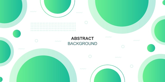 Abstract geometric green shapes background