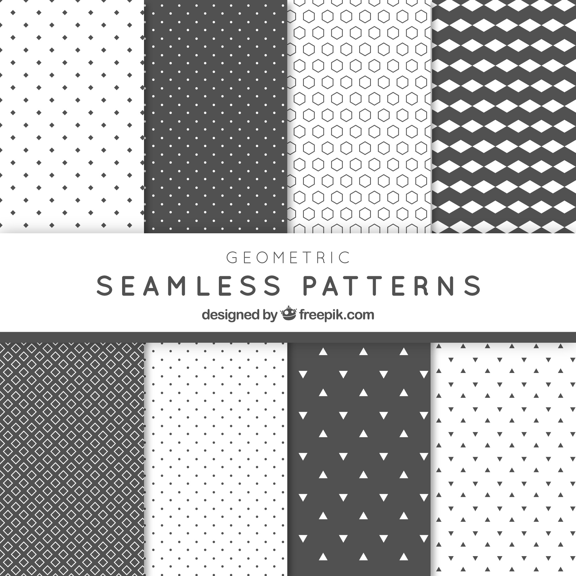Abstract geometric grey patterns pack