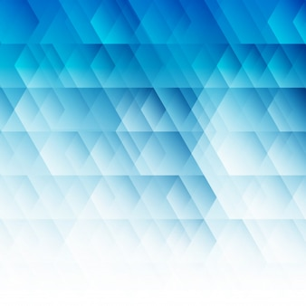 Abstract geometric hexagon blue background