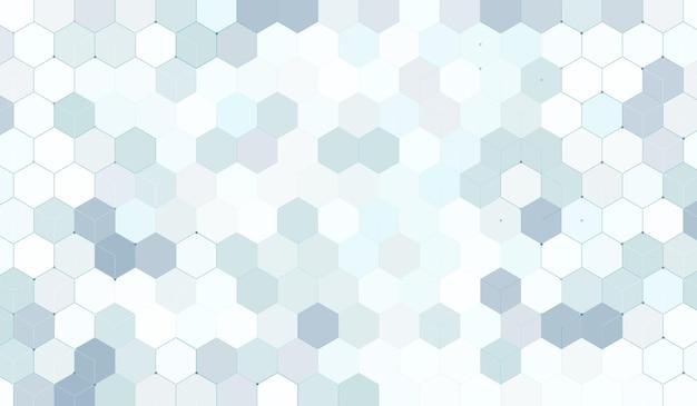기술 디지털 하이테크 개념 배경을 가진 추상적인 기하학적 육각형. 육각형 패턴. 벡터 일러스트 레이 션