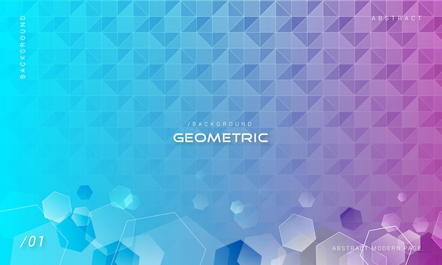 Abstract geometric hexagonal background