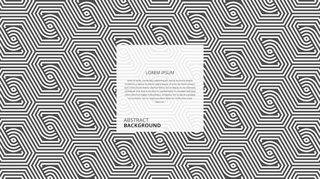 추상적 인 기하학적 육각형 원형 모양 라인 패턴