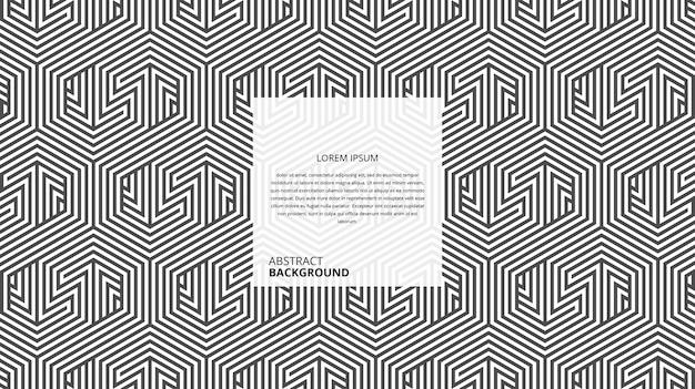 추상적 인 기하학적 육각형 지그재그 모양 라인 패턴