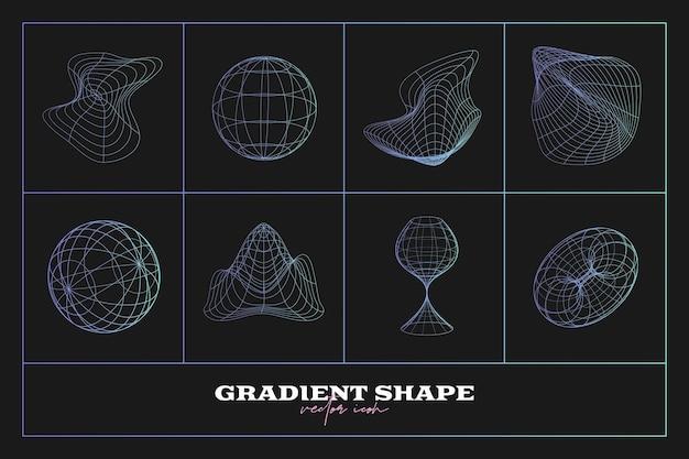 추상적인 기하학적 아이콘 모양 컬렉션