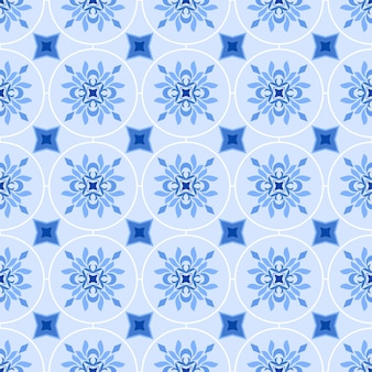 Абстрактные геометрические в синий монохромный бесшовные модели.