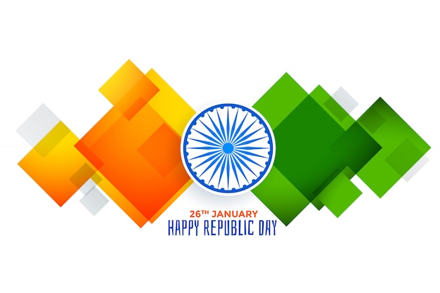 Abstract geometric indian flag for republic day
