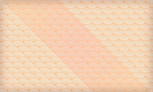 추상적인 기하학적 일본 물결 패턴 배경