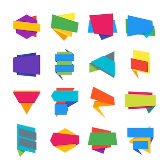 Коллекция шаблонов абстрактных геометрических этикеток.