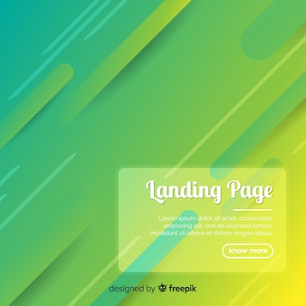 Abstract geometric landing page