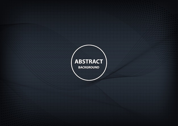 Abstract geometric and line dark background
