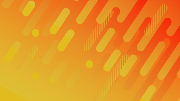 Abstract geometric line pattern background for business brochure cover design yellow red orange vect...