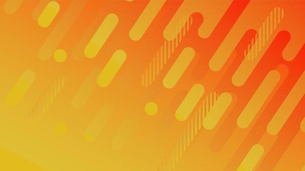 비즈니스 브로셔 표지 디자인 노란색 빨간색 주황색 벡터에 대 한 추상적인 기하학적 선 패턴 배경...