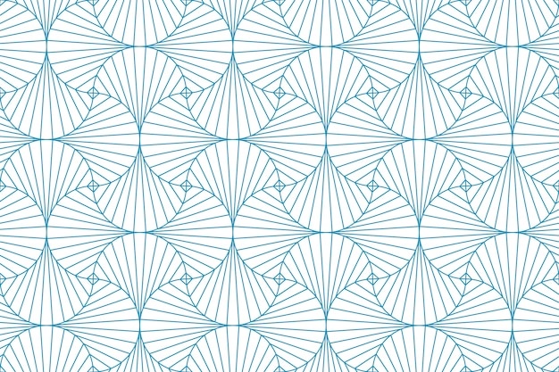 Abstract geometric line pattern seamless blue line