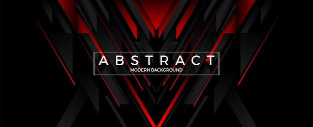 Abstract geometric line red and black background